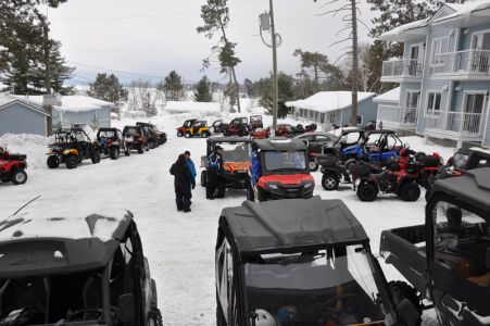 MANY ATV's VISIT US DURING WINTER